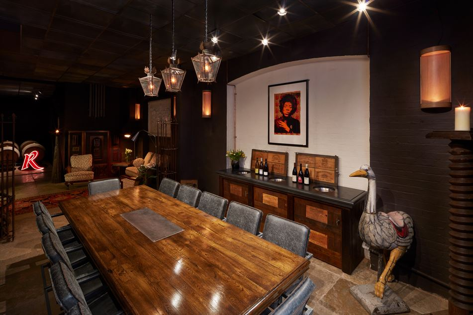 Tasting room for meetings