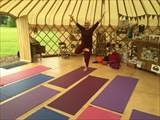 Yoga at the Yurt